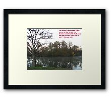 Maker of Heaven and Earth Framed Print