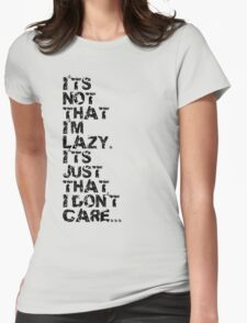 Just Lazy Womens Fitted T-Shirt