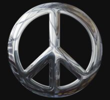 Silver Peace Sign in Silver Chrome by Chromed