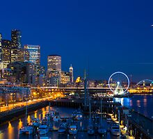 Seattle Waterfront at Twilight by Jim Stiles