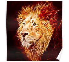 Fiery Lion Poster