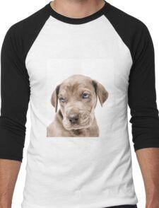 Great Dane Puppy  Men's Baseball ¾ T-Shirt