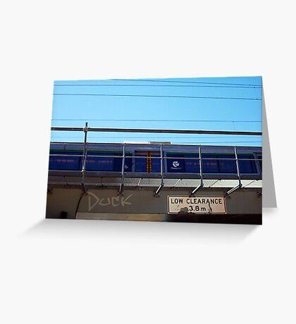 Train Bridge - Duck - 07 03 13 Greeting Card