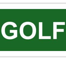 Golf - Green Sticker