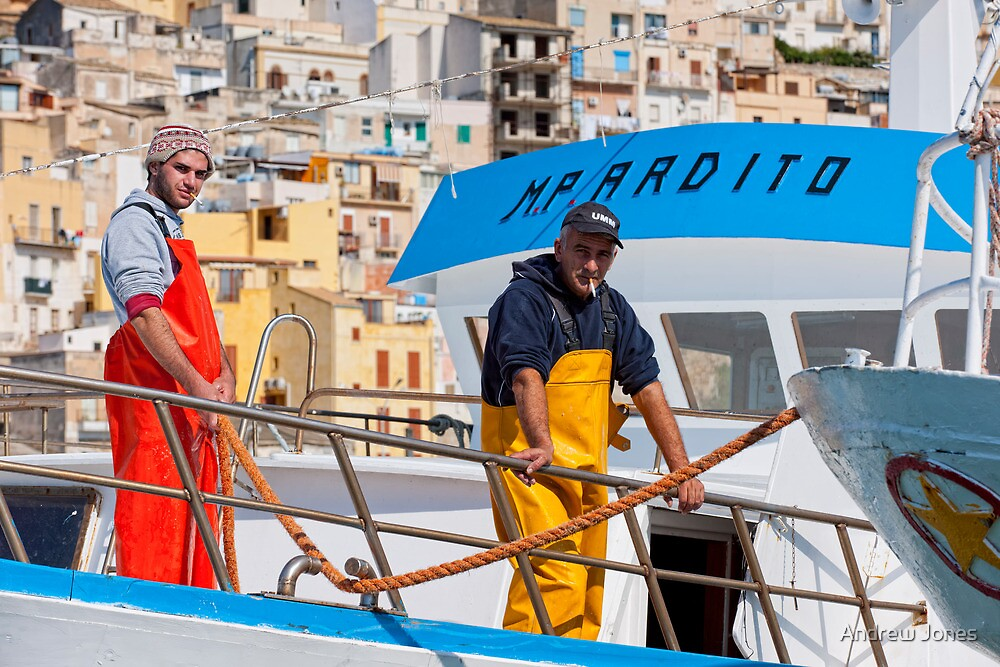 Landing at Sciacca, Sicily by Andrew Jones