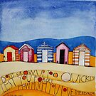 Beach Huts by samcannonart
