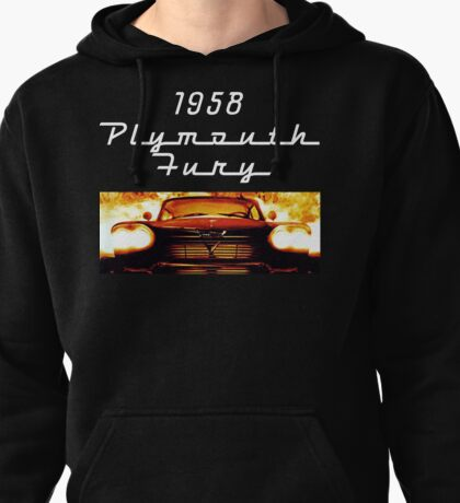 Christine - 1958 Plymouth Fury (White Font) Pullover Hoodie