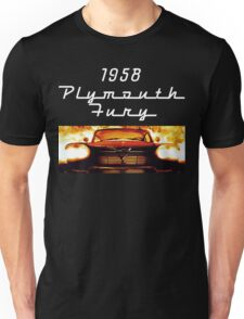 Christine - 1958 Plymouth Fury (White Font) Unisex T-Shirt