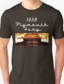 Christine - 1958 Plymouth Fury (White Font) T-Shirt