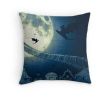 The way to the dragon's nest! Throw Pillow