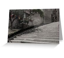 Steps to left. Greeting Card