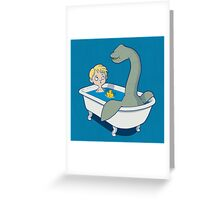 There's something in my bath!! Greeting Card