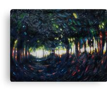 a dark dark forest Canvas Print