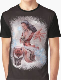 Girl and Fox Graphic T-Shirt
