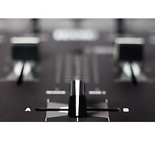 Professional sound mixing controller Photographic Print