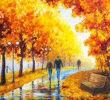 Autumn parkway by Veikko  Suikkanen