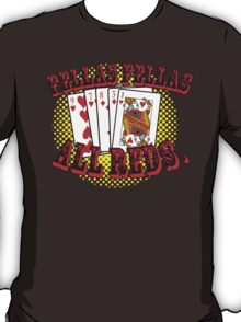 Oceans' 11 all red winning hand.  T-Shirt