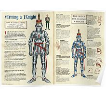 Arming a 15th Century Knight Poster