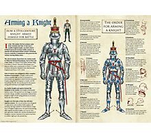 Arming a 15th Century Knight Photographic Print
