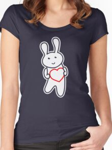 Bunny in Love Women's Fitted Scoop T-Shirt