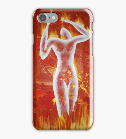 Woman born of fire iPhone Case/Skin
