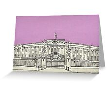 Buckingham Palace ( Mauve ) Greeting Card