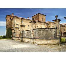 Italian Castles - Castle Of Agazzano Main Entrance Photographic Print