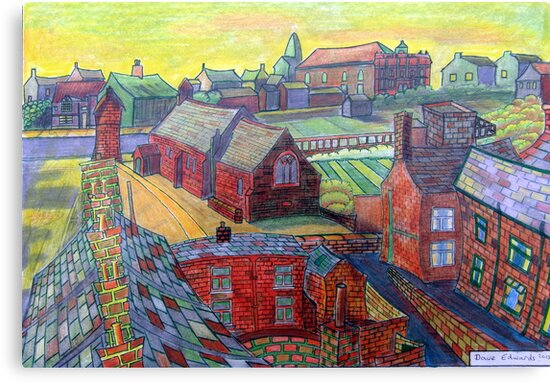 376 - RHOS SEEN FROM STIWT ROOF - DAVE EDWARDS - COLOURED PENCILS - 2013 by BLYTHART