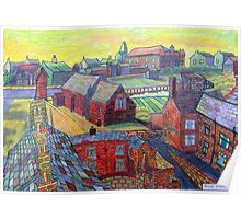 376 - RHOS SEEN FROM STIWT ROOF - DAVE EDWARDS - COLOURED PENCILS - 2013 Poster