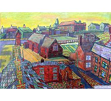 376 - RHOS SEEN FROM STIWT ROOF - DAVE EDWARDS - COLOURED PENCILS - 2013 Photographic Print