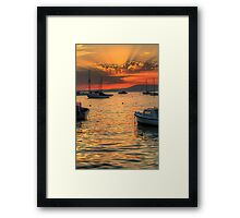 Over the bow Framed Print
