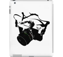 Digital camera isolated on white background DSLR on T-Shirt iPad Case/Skin