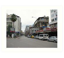 Streetscape on sunday,Adana. Art Print