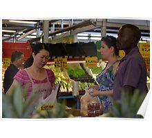Buying fresh fruit & veggies... Poster