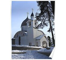church in winter Poster