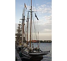 Tall Ships At Dock Side Photographic Print