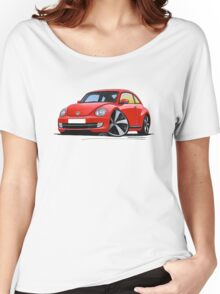 VW New Beetle (2012) Red Women's Relaxed Fit T-Shirt