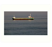 CONTAINER BOAT . Art Print