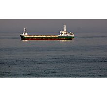 CONTAINER BOAT . Photographic Print