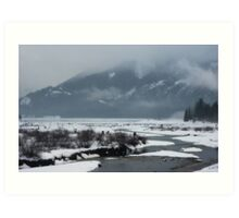snow covered water~ Art Print