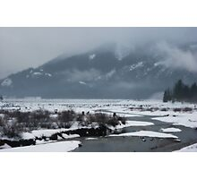 snow covered water~ Photographic Print