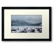 snow covered pass~ Framed Print