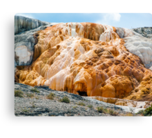 Mammoth Hot Springs Living Limestone - Yellowstone NP Canvas Print