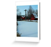 A peaceful winter view..:) Greeting Card