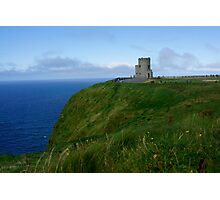 Cliff Of Moher Castle Tower Photographic Print