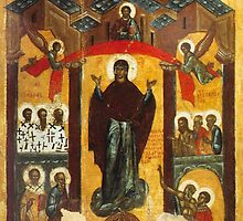 Old Russian icon The Intercession by igorsin