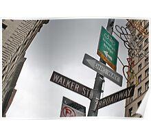 Broadway/Walker St Sign Poster