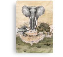 Council of Animals  Canvas Print