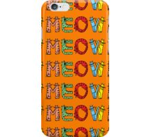 Meow Cat Pattern Case iPhone Case/Skin