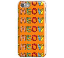 Meow Cat Pattern Case iPhone Case/Skin